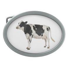 Cow. Belt Buckle