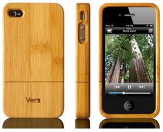 Vers Bamboo Wood Slimcase for iPhone 4 or 4S by Bambooki - Bamboo is durable and grows stronger with age. I like that this slim casing adds a minimal, modern and authentic style to it. It definitely beats the patterned plastic covers that usually make technology look cheaper. This eco-friendly item is just one of the numerous bamboo products  featured on Bambooki.com, and it shows how bamboo, a sustainable raw material, can be incorporated in so many everyday materials. #greendorm