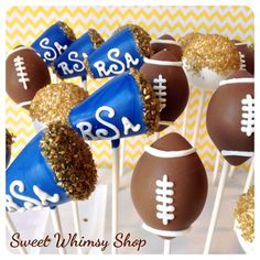 12 Cheer Megaphone Cake Pops, for football, basketball cheerleader, coach gift, team banquet, sports party favor, college tailgate, school