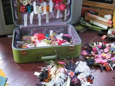 suitcase for display