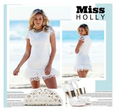 """""""Miss Holly- WHITE LACE DRESS 1.29"""" by amra-mak ❤ liked on Polyvore featuring Fratelli Karida, Nancy Gonzalez and missholly"""