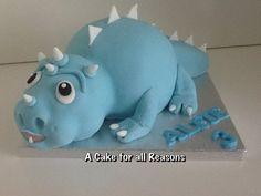 Baby dinosaur Cake by DawnE Dino Cake, Dinosaur Cake, Dinosaur Party, Dinosaur Birthday, Candy Cookies, Cupcake Cookies, Scary Cakes, Icing Techniques, Baby Dinosaurs