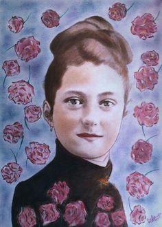 Sainte Therese De Lisieux, Maria Goretti, Santa Teresa, Catholic Art, Art Icon, Drawing People, Creative Inspiration, Saints, Llama Violeta