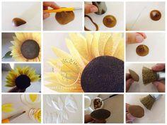 Quick Wafer Paper Sunflower Tutorial
