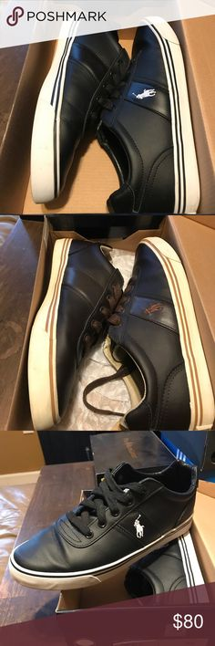 (2 pairs) Polo Ralph Lauren Leather Shoes BLK/BRN POLO SHOES (9US) Condition 8/10 Both for $50 Polo by Ralph Lauren Shoes Sneakers