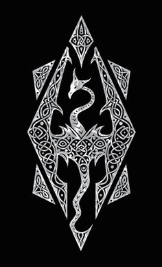 I always loved playing Skyrim. So I felt like making a Skyrim design for funsies, and I came up with this. This symbol is usually known to be the logo for the Skyrim videogame, but it's also known ...