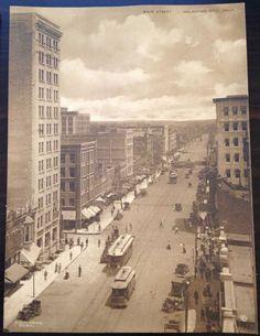 Vintage 1900's The Sepia Albertype Card Main St Oklahoma City OKLA Photo | eBay