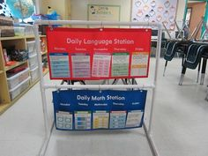 DIY: pvc pipe from the home improvement store to create innovative pocket chart stand Education Quotes For Teachers, Education College, Elementary Education, Special Education, Teacher Resources, Classroom Setup, School Classroom, Circus Classroom, Classroom Projects