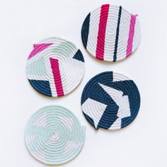 Want a child friendly and washable coaster, how about these clothesline coasters, easy to make and paintable!