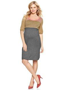 Colorblock striped dress