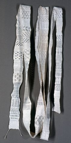 Knitted cotton lace sampler, German; from the Cooper-Hewitt collection