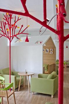 Delightful Modern Kids Cafe Interior Idea 49