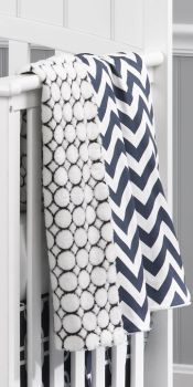 Liz  Roo Navy Chevron Minky Blanket- Great for any baby boy or girl nursery. Design your own collection at www.lizandroo.com #madeinUSA #LizRoo