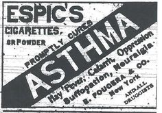Cigarettes for your respiratory problems, date not stated