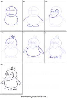 How to Draw Psyduck from Pokemon GO step by step printable drawing sheet to print. Learn How to Draw Psyduck from Pokemon GO Easy Pokemon Drawings, Easy Disney Drawings, Pokemon Sketch, Easy Drawings, Easy Sketches, Art Drawings Sketches, Cartoon Drawings, Pokemon Go, How To Draw Pokemon