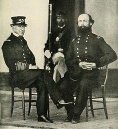 Admiral David Farragut and General Gordon Granger