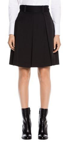 Skirts | Smooth Cotton Pleat Skirt