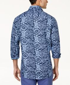 Tasso Elba Men's Paisley Shirt, Created for Macy's - White XXL