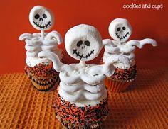Skeleton Cupcake!