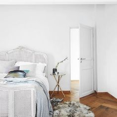 The French Bedroom Company Blog | How To: Make Your Home Insta-Worthy. Get your home instagram ready with our top tips and ideas. Thanks for this picture of our French Grey Rattan bed from Living Etc managzine with white walls and wooden flooring
