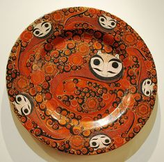 Museo de Arte Popular, Mexico City Picture Gallery -Serving Plate Decorated With Nahuals (Aztec Human/animal Demons)