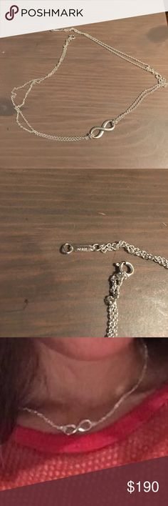 Tiffany infinity necklace Nearly new condition Tiffany necklace. Stunning double chain. Will come with box and pouch Tiffany & Co. Jewelry Necklaces