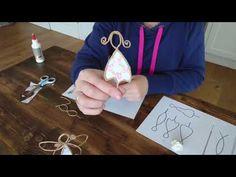 Papierdraht Engel Basteln DIY Tutorial - New Ideas Wire Crafts, Diy And Crafts, Easy Crafts, Diy Paper, Paper Art, Fun Valentines Day Ideas, Diy Tumblr, How To Get Abs, Angel Crafts