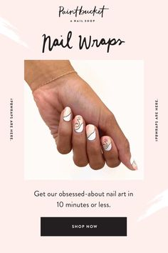 Get our obsessed-art in minutes with our 100% polish nail wraps. So simple, you won't stress applying them yourself. Go on, you talented artist, you... Nail Shop, Nail Wraps, Stress, Nail Polish, How To Apply, Nails, Simple, Artist, Finger Nails