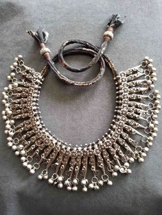 By Carla Alicata | Beautifully restrung, old silver Yemeni pieces ~ keeping very much to the traditional style of these pieces.