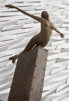 TITANICA SCULPTURE,TITANIC BUILDING,BELFAST,NORTHERN IRELAND.