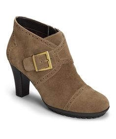 Loving this Tan Monument Suede Ankle Boot on #zulily! #zulilyfinds