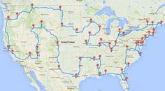 This 13,699-mile journey makes stops at 50 U.S. landmarks — but you'll need some serious time off to complete it.