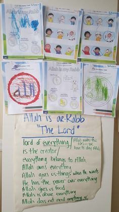 Board Discussion and Coloring Activities for Ar-Rabb (The Lord)