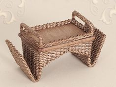 WC/207, wicker, breakfest tray, scale 1 : 12, made by Will Werson.