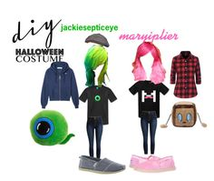 """""""genderbent youtubers"""" by persaeusgoddess on Polyvore featuring BOBS from Skechers, halloweencostume and DIYHalloween"""