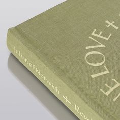 A close-up of the cover and materials used for the new Folio edition of Revelations of Divine Love.