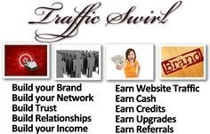 Traffic Swirl.Get More Traffic,Build Your Social Networks.Get targeted real traffic to your website.It's fast, easy, fun, and free!