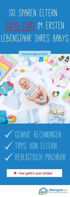 Mit diesen Tipps sparst du ganz einfach 3.895 Euro im ersten Lebensjahr deines Babys! #geldsparen #geld