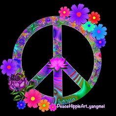 Love it peace signs in 2019 Hippie Peace, Happy Hippie, Hippie Love, Hippie Art, Hippie Style, Hippie Chick, Peace Love Happiness, Peace And Love, Perfect Peace