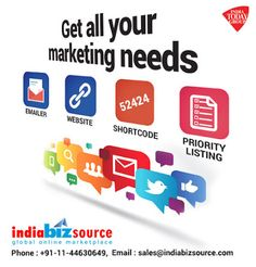 We from Indiabizsource one of the best online marketplaces to find solutions to B2B needs. http://www.indiabizsource.com/