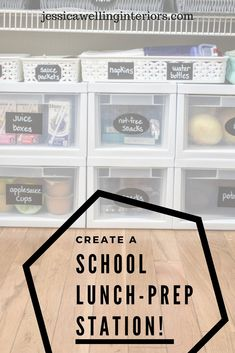 Want to streamline school lunch prep? Pack lunches fast and make mornings run smoother with this simple lunch-packing station!