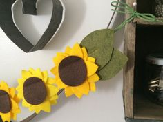 sunflower garland by AidiesHideaway on Etsy