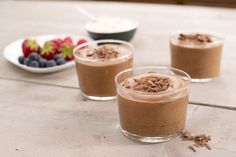 Een overheerlijke chocolademousse, die maak je met dit recept. Smakelijk!