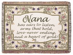 With Love Home Decor - Nana Tapestry Afghan Throw Blanket