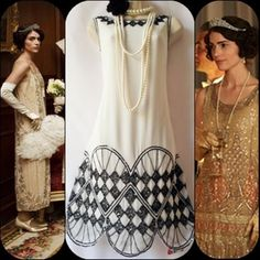 BN 20's FLAPPER INSPIRED GATSBY ABBEY DECO JAZZ BEADED DRESS SIZE UK 10,,USA 6 #DEFINITIONS #20s #Cocktail