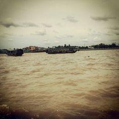 The huge Mekong River, Vietnam.