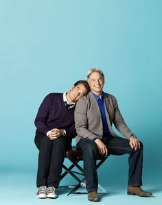 Michael Weatherly & Mark Harmon i love michael weatherly