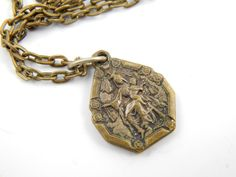 Our Lady of Mount Carmel Handmade Necklace  by LuxMeaChristus