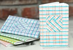 Plaid Shirt Pocket Notebook by sappling on Etsy