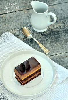 Chocolate Mousse Cake, Something Sweet, Beautiful Cakes, Yummy Cakes, No Bake Cake, Sweet Stuff, Food And Drink, Pumpkin, Baking
